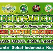 Istighotsah Kubro Dalam Rangka Memperingati Hari Santri Nasional 2020